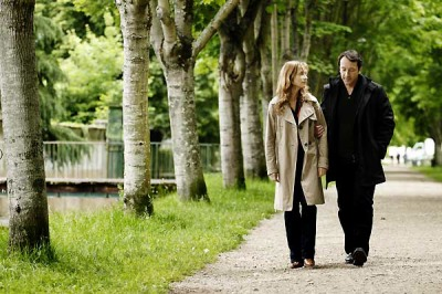 Isabelle Huppert et Jean-Hugues Anglade dans « Villa Amalia »
