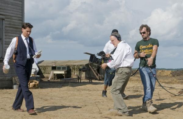 Michael Mann et Johnny Depp sur le tournage