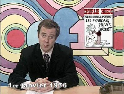Parodie du journal télévisé au lendemain du vote de la loi de 1975