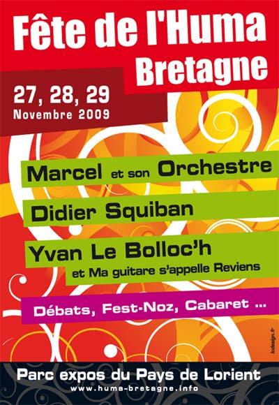 Fête de l'Huma Bretagne 2009 — Affiche