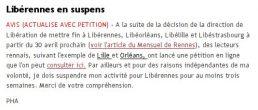 Les voies discordantes de «Libération»