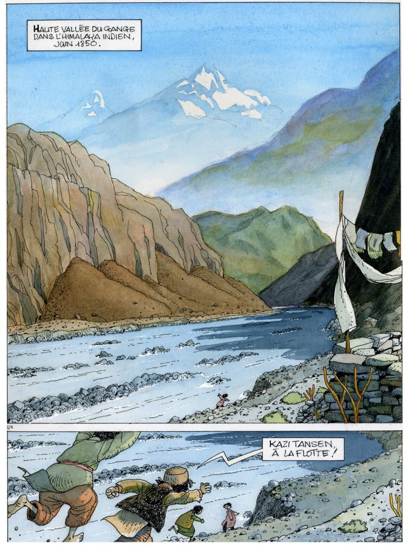 « Les Chevaux du vent », planche 1, par Fournier et Lax