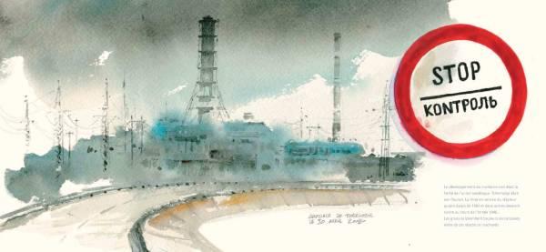L'arrivée devant la centrale, par Gildas Chassebœuf