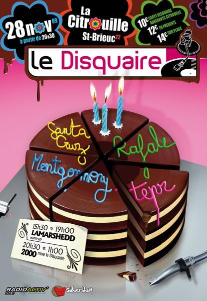 Le Disquaire — affiche concert 3 ans