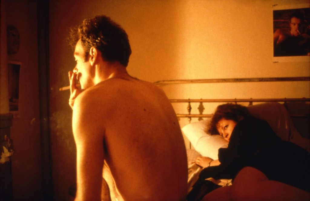 Nan and Brian in Bed, NYC, 1983 — photo Nan Goldin
